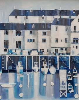 Wychwood Art-JulieAdlard-BlueHarbourBoats-Main