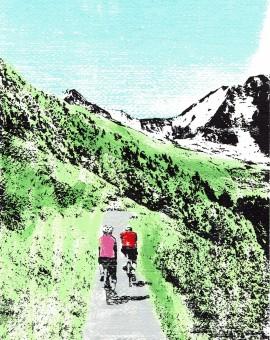 cycling_mountains_mtb_mountain_biking_road_riding_screenprint_katie_edwards_illustration_art