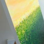 side of field of green