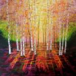 Amanda Horvath Golden Evening Light Landscape Painting, Impressionist Art, Affordable Contemporary Painting