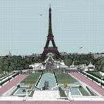 Bonjour Paris, 7 colour screen print, image size 50x50cm, paper size 56x60cm, edition of 100, unframed retail price £350