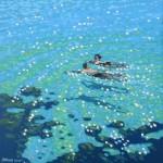 Chit chat swim. Gordon Hunt. Full image