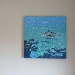 Chit chat swim. Gordon Hunt. On the wall