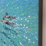 Chit chat swim. Gordon Hunt. Side view
