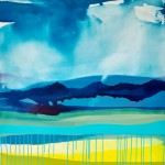 Claire Chandler Blue skies Wychwood Art 95 x 85cm acrylic on canvas