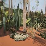 Elaine Kazimierczuk, Cacti Varieties and Palm Tree, Marjorelle Gardens, Morocco, Wychwood Art