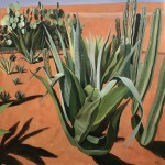 Elaine Kazimierczuk, Cacti with Shadows, Musee de la Palmeraie, Morocco, Wychwood Art