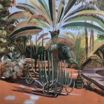 Elaine Kazimierczuk, Cactus and Large Palm, Marjorelle Gardens, Morocco, Wychwood Art