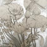 Jenny Evans Artist, Koi Pond in Silver,Wychwood Art-168