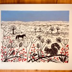 Joanna Padfield Linocut Print One Winters Day 1