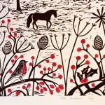 Joanna Padfield Linocut Print One Winter's Day 4