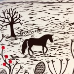Joanna Padfield Linocut Print One Winter's Day 6