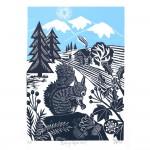 KateHeiss_BusySquirrel-border_WychwoodArt