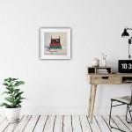 Marie Robinson Weather Lore framed Insitu Wychwood Art