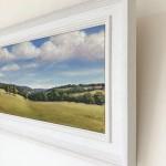 Marie Robinson_September Hills Framed corner detail_Wychwood Art