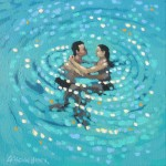 Turquoise swirl. Gordon Hunt. Full image