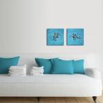 Turquoise swirl. Gordon Hunt. In-situ1