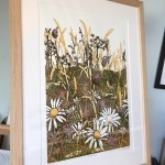 wildflowers i – Susan Noble – on easel in studio
