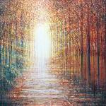 A Forest In Autumn, Marc Todd, Contemporary Impressionist Landscape Art, Tree Art, Buy Original Art Online
