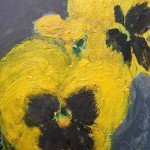 Deborah Windsor Yellow Pansies In A Flower Pot (detail 1) Wychwood Art-15a42dba