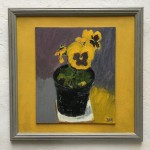 Deborah Windsor Yellow Pansies In A Flower Pot (front) Wychwood Art-57f69dfb