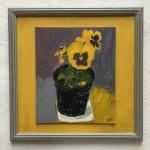 Deborah Windsor Yellow Pansies In A Flower Pot (front) Wychwood Art-7225ebbe