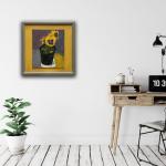Deborah Windsor Yellow Pansies In a Flower Pot (in situ) Wychwood Art-6ef5bcae