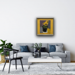 Deborah Windsor yellow Pansies In a Flower Pot (insitu2) Wychwood Art-ded5a6b2