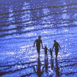 Family beach walk. Commission. Gordon Hunt