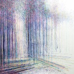 Forest Trees In Soft Evening Light, Marc Todd, Original Contemporary Impressionist Landscape Art copy