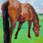 Georgie Dowling Grazing Horse 002-89b1ead5