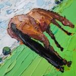 Georgie Dowling Grazing Horse 003-605a8c85