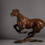 Jane Shaw. Changing Direction. Galloping Horse. Bronze horse sculpture 1