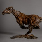 Jane Shaw. Changing Direction. Galloping Horse. Bronze horse sculpture 2
