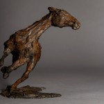 Jane Shaw. Changing Direction. Galloping Horse. Bronze horse sculpture 3