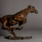 Jane Shaw. Changing Direction. Galloping Horse. Bronze horse sculpture 4