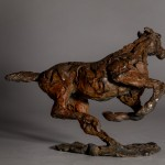 Jane Shaw. Changing Direction. Galloping Horse. Bronze horse sculpture 5