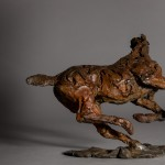 Jane Shaw. Changing Direction. Galloping Horse. Bronze horse sculpture 6