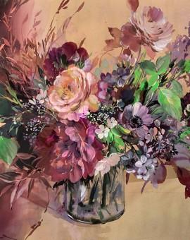 Jo Haran Floral Burst In Glass Vase Wychwood Art1