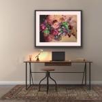 Jo Haran Floral Burst In Glass Vase Wychwood Art2