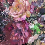 Jo Haran Floral Burst In Glass Vase Wychwood Art8