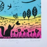 Joanna Padfield Cats and Butterfly Linocuts 3-541c100f