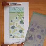 Sea Holly with lino