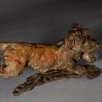 ane Shaw. Happy Miniature Wire haired dachshund. Bronze animal sculpture 9