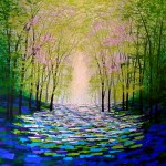 Amanda Horvath       Forest Magic      Landscape Painting, Impressionist Art, Affordable Contemporary Painting-d77c4a47
