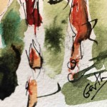 Garth Bayley. Down the Fairway.Wychwood Art.6-fb1d4d4d