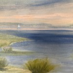 Gemma Bedford, Solo Sail, Comtemporary Seascape Painting, Close Up 2-970300f3