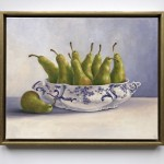 Marie Robinson Pear Overboard on white wall Wychwood Art-59598776