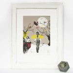 guiding_the_way_II_framed_amelias_magazine_spirit_animals_screenprint_katie_edwards_illustration_art-b91c35db