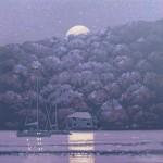 moonshine – fowey. cornwall. gordon hunt. wychwood art. full image-1a72d11d